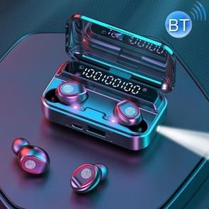 F9-3 Intelligent Noise Reduction Touch Bluetooth Earphone met Ultraviolet Sterilisatie Oplaadbox  ondersteunt drievoudig LED Power Digital Display & Flashlight & HD Call & Power Bank & Voice Assistant(Zwart)