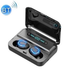 F9-5 Intelligent Noise Reduction Touch Bluetooth Earphone met oplaadbox  ondersteunt drievoudig LED Power Display & HD Call & Power Bank & Siri(Zwart)