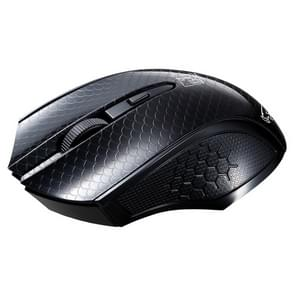 ZGB 101C 2.4GHz 1600 DPI professionele commerciële draadloze optische muis dempen Silent Klik Mini geruisloze muizen voor Laptop  PC  draadloze afstand: 30m(Black)
