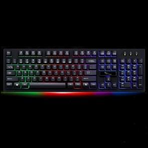 ZGB G20 104 toetsen USB bedraad mechanische RGB Backlight computertoetsenbord Gaming Keyboard(Black)