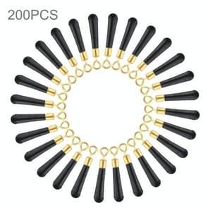 200 stuks Ring koper hoofd draaien visserij Float stoel  grootte: L