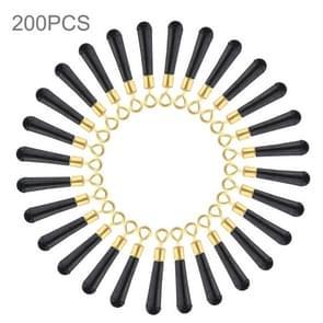 200 stuks Ring koper hoofd draaien visserij Float stoel  grootte: S