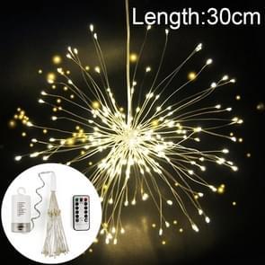 30cm explosie bal Fireworks Copper Wire LED String Light  150 LEDs batterijen vak LED decoratieve Light met afstandsbediening (wit licht)
