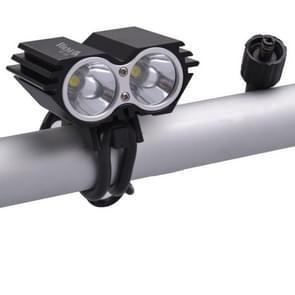RichFire SF-607 2 LEDs 2000 LM CREE XML-T6 Cool witte LED fiets hoofdlamp met sterke / midden / laag / snel Strobe Modes(Black)