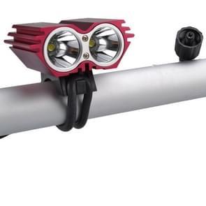 RichFire SF-607B 2 LEDs 2000 LM CREE XML-T6 Cool witte LED-Eagle Eye fiets hoofdlamp met sterke / midden / laag / snel Strobe Modes(Red)