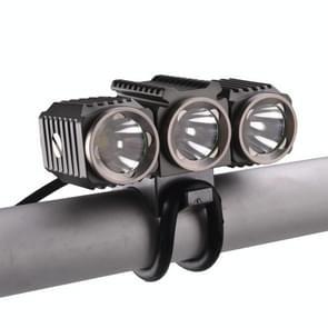 RichFire SF-617 3 LEDs 1200 LM CREE XM-L T6 Cool witte LED-Eagle Eye fiets hoofdlamp met sterke / midden / laag / snel Strobe modi (grijs + zilver + Violet)