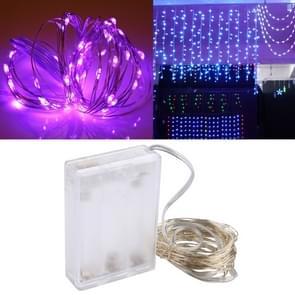 5m IP65 waterdicht paars licht zilver draad String licht  50 LEDs SMD 0603 3 x AA batterijen vak Fairy Lamp decoratieve licht  DC 5V