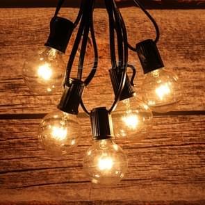 G40-EU25 G40 7.6m 175W E14 IP44 waterdichte Retro Filament lamp String licht  25 lampen LED decoratieve Lamp voor Tuin  Engineering  Bar  Party  bruiloft  AC 220V  EU Plug(Warm White)