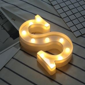 Alfabet S Engelse letter vorm decoratieve licht  droge batterij aangedreven warm wit staande opknoping LED vakantie licht