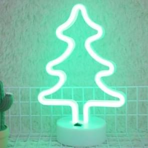 Kerstboom romantische Neon LED vakantie licht met houder  warme Fairy decoratieve Lamp nachtlampje voor kerst  huwelijk  Party  slaapkamer (groen licht)