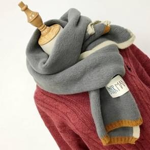 Solid Color Thick Warm Knit Woolen Scarf  Size: 40 * 20.5cm(Grey)