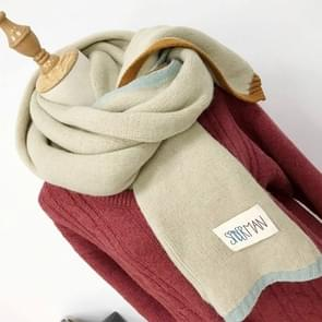 Solid Color Thick Warm Knit Woolen Scarf  Size: 40 * 20.5cm(Beige)