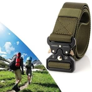 ENNIU 3.8cm Wide Snake Buckle Outdoor Casual Nylon Belt Adjustable Multifunction Training Belts (Army Green)