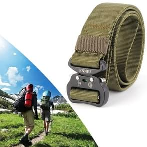 ENNIU 3.8cm Wide Aviation Aluminum Buckle Nylon Belt Adjustable Multifunction Training Belts (Army Green)