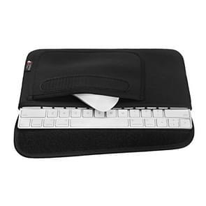 Draagbare stofdichte Cover opbergtas voor Apple Magic Mouse 2 en magische toetsenbord 2 (zwart)