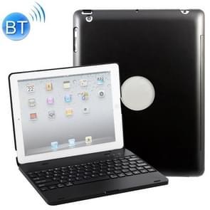 P2095 voor iPad 4/3/2 laptop versie aluminiumlegering Bluetooth toetsenbord beschermhoes (zwart)