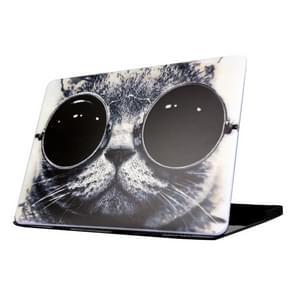 MacBook Pro 15.4 inch met Touchbar A1707 (2016 versie) Kat met zonnebril patroon beschermende Cover