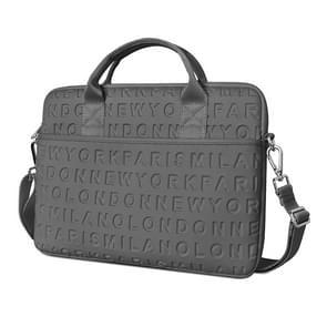 WiWU 15 4 inch Shockproof Dropproof Fashion Slim Schouder Laptop Tas Handtas (Grijs)