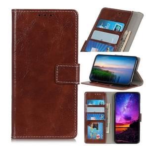 Magnetische retro Crazy Horse textuur horizontale Flip lederen case voor Wiko weergave 3  met houder & kaartsleuven & portemonnee (bruin)