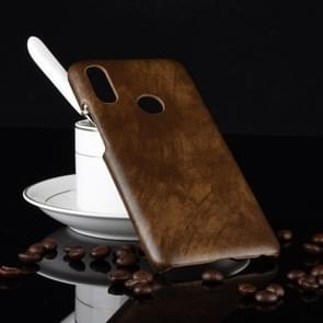 Schokbestendige Litchi textuur PC + PU Case voor Meizu Note 9 (bruin)