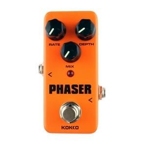 KOKKO FPH2 Mini elektrische gitaar analoge Phaser Monoblock effecten Pedal(Orange)
