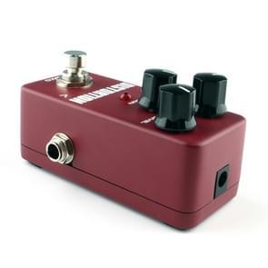 KOKKO FDS2 Mini elektrische gitaar Monoblock vervorming effect pedaal (wijn rood)