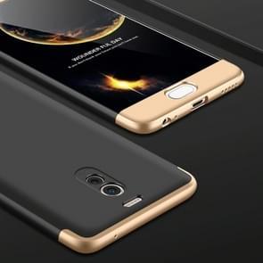 GKK voor beschermhoes voor de volledige voor 360 graden van Meizu M6 Opmerking PC Back-Cover(Black+Gold)