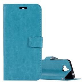 Voor Huawei Y5 (2017) Crazy Horse textuur horizontale Flip lederen draagtas met houder & kaartsleuven & portemonnee & fotolijstjes (blauw)