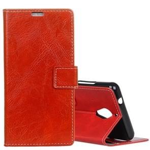 Wiko TOMMY 2 Plus Retro Crazy Horse textuur horizontale Flip lederen draagtas met houder & kaartsleuven & portemonnee & fotolijstjes (rood)