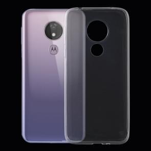 0.75 mm ultradunne transparante TPU zachte beschermhoes voor Motorola Moto G7 Power
