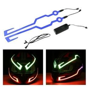 MB-MHL002 Motorfiets Modificatie Accessoires Universal Pasteable Helm Light Strip (Blauw)