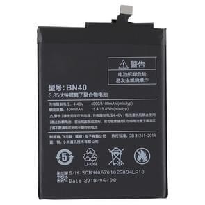4000mAh Li-polymeer batterij BN40 voor Xiaomi Redmi 4 Prime