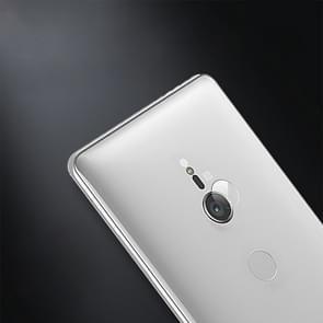 0.3 mm 2.5 D transparante achterzijde camera lens Protector getemperd glas film voor Sony Xperia XZ2