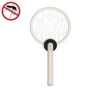 2W draagbare opvouwbare elektrische muggenswatter (Beige)