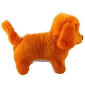 2 stuks Pluche pup elektrisch aangedreven speelgoed kunnen Will Move vooruit / achteruit zal / klinkende en lichtgevende ogen