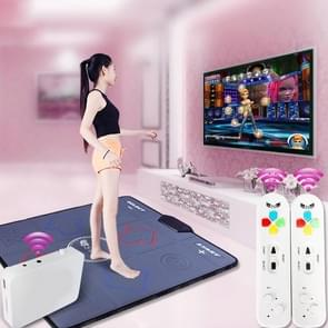 HD draadloze één PU lederen massage dansen deken TV computer dual-use somatosensorische dansen machine (zwart)