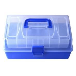 Multi-function Handy Tool Box Plastic Storage Fishing Tackle Box  Size: 14*15*28cm