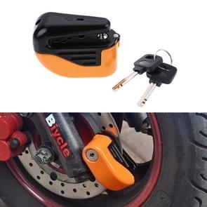 Bicycle Lock Theft-proof Small Alarm Lock Disc Brakes(Orange)