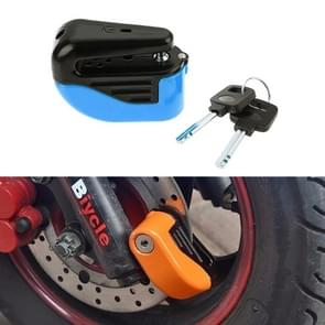 Bicycle Lock Theft-proof Small Alarm Lock Disc Brakes(Blue)