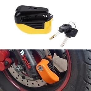 Fiets slot diefstal-proof kleine Alarm Lock schijf Brakes(Yellow)