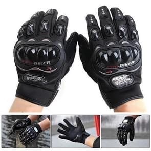 One Pair PRO-BIKER MCS-01C Breathable Wearable Full Finger Protective Motorcycle Gloves Outdoor Sports Keep Warm Gloves  Size: M(20-22cm)(Black)