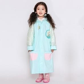 Leeftijd 3-12 kinderen herbruikbare regenjas Hooded met schooltas Cover  zakken  kap en mouwen (blauwe S)
