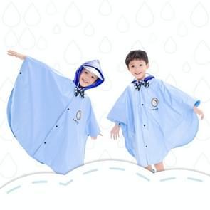 Leeftijd boven de 3 jonge geitjes Britse stijl Cartoon herbruikbare mantel regenjas Hoodies (blauwe S)