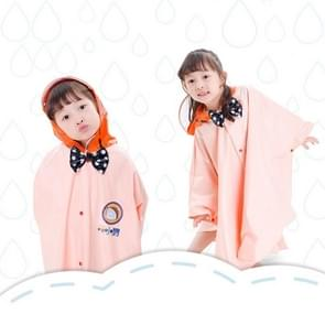 Age Above 3 Kids British Style Cartoon Reusable Cloak Raincoat Hoodies(Apricot S)