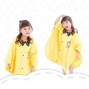 Age Above 3 Kids British Style Cartoon Reusable Cloak Raincoat Hoodies(Yellow S)