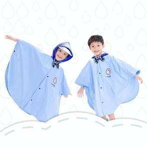 Leeftijd boven de 3 jonge geitjes Britse stijl Cartoon herbruikbare mantel regenjas Hoodies (blauwe M)