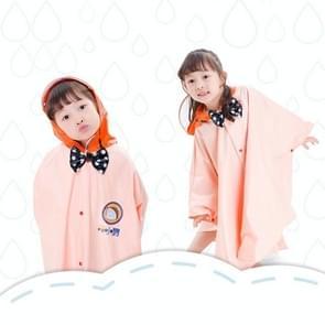 Leeftijd boven de 3 jonge geitjes Britse stijl Cartoon herbruikbare mantel regenjas Hoodies (abrikoos M)