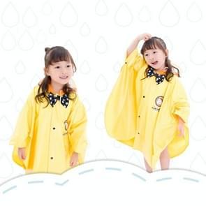 Leeftijd boven de 3 jonge geitjes Britse stijl Cartoon herbruikbare mantel regenjas Hoodies (gele M)