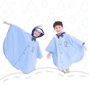 Leeftijd boven de 3 jonge geitjes Britse stijl Cartoon herbruikbare mantel regenjas Hoodies (blauw L)