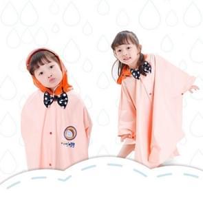 Leeftijd boven de 3 jonge geitjes Britse stijl Cartoon herbruikbare mantel regenjas Hoodies (abrikoos XL)